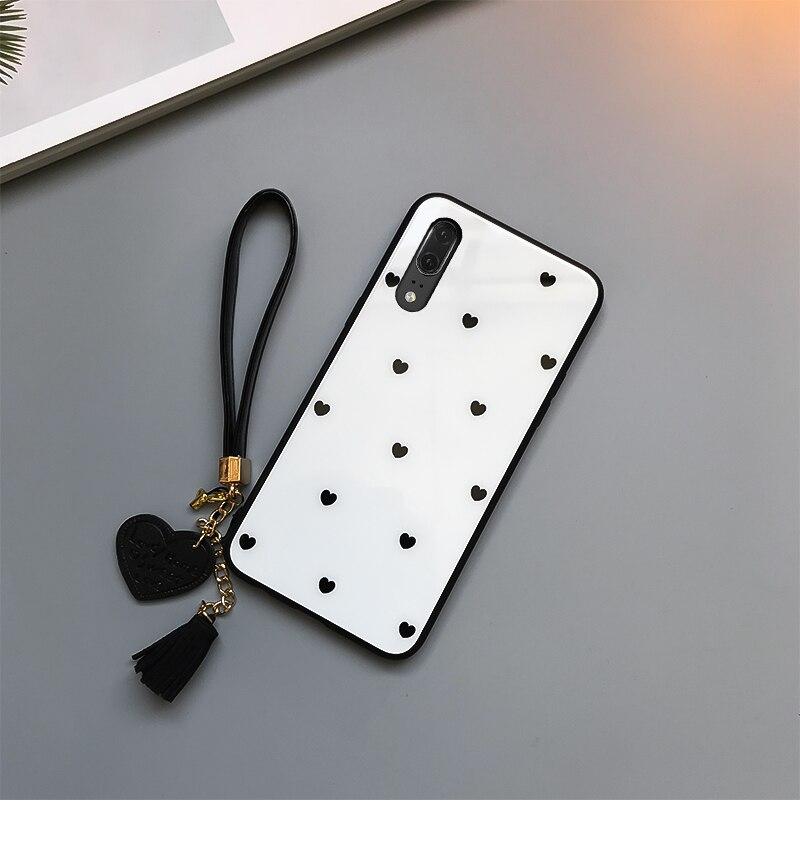 HTB15tj7Xv1H3KVjSZFHq6zKppXaA For samsung galaxy A30 A50 A70 A20 A40S Tempered Glass Case Love heart Cover For Samsung A50 A70 A30 A20 Tassel Lanyard Funda