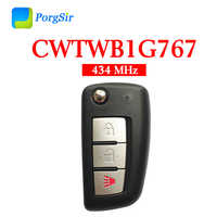 3 Button 434 MHz FSK Flip Remote Control Key for Nissan Rogue With 4A Chip FCCID: CWTWB1G767 PN: 8268-4CB1A H0561-4BA1A