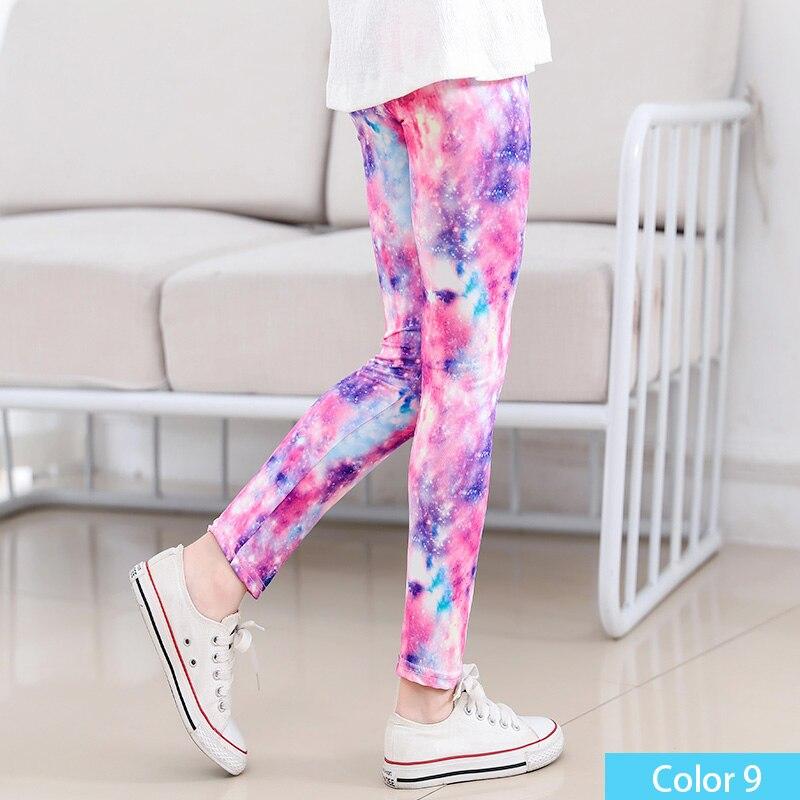SheeCute/Леггинсы с принтом для девочек; одежда для маленьких девочек; Детские обтягивающие леггинсы с цветочным принтом; SC1752 - Цвет: color9