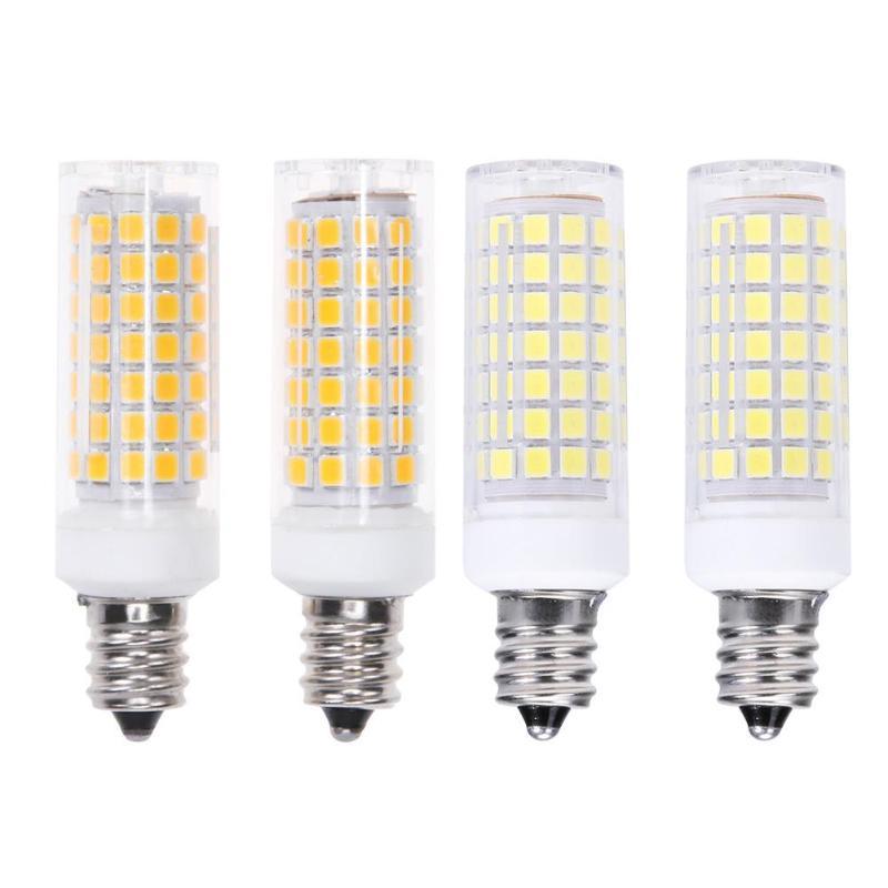 2pcs LED Bulb E12 6W 85Ra 85-265V 88LED 360 Degree Angle Lighting Warm White/White Corn Lamp for Jewelry Counter Indoor Lighting