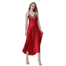 Ladies Sexy Silk Satin Nightgown Sleeveless Nighties Long Nightdress V neck Sleep Shirt Summer Night Dress