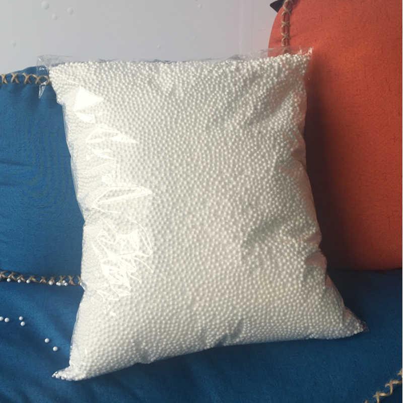 250g/500g bolsa de frijol relleno de bolas de espuma bolsa de bola de espuma blanca Beanbag para juguetes PUF Geant almohadas bolsas de relleno de sofá cama Zitzak
