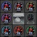 GRe**y Gauge Turbo Boost Gauge GReddi 7 Light Colors LCD Display With Voltage Meter 62mm 2.5 Inch With Sensor Racing Gauge