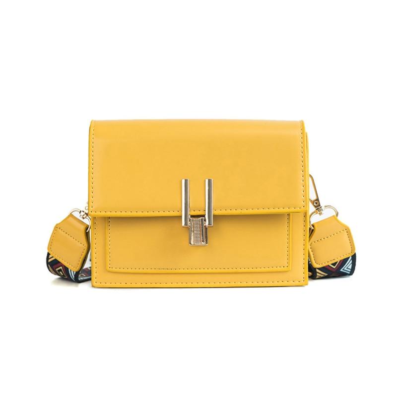 New Women Fashion Width Shoulder Bags INS Popular Female Exquisite Solid Handbag Mini Flap Lady Travel Chains Crossbody SS3474 (1)