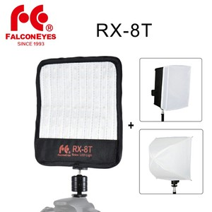 Image 1 - Falcon Gözler RX 8T 18 W Taşınabilir LED Fotoğraf Video Işığı 90 adet Su Geçirmez Esnek Katlanabilir Bez Lambası Difüzör
