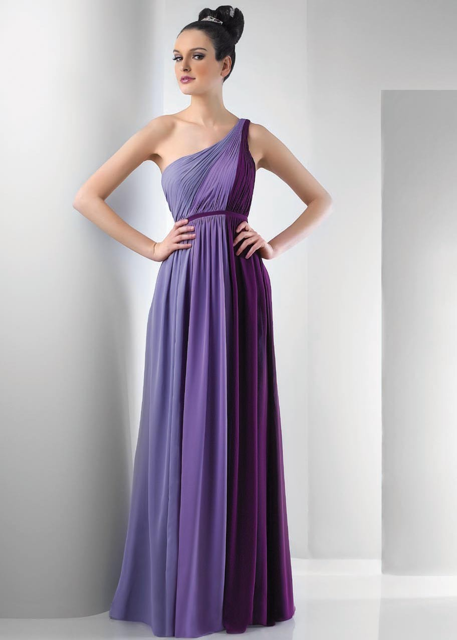 Popular floor length purple bridesmaid dresses buy cheap floor formal one shoulder multi color sleeveless floor length chiffon pleats classical purple bridesmaid dresschina ombrellifo Image collections