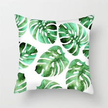 Fuwatacchi Tropical Plant Background Cushion Covers Flamingo Palm Leaf Throw Pillow Cover for Sofa Bed Decor Pillowcases