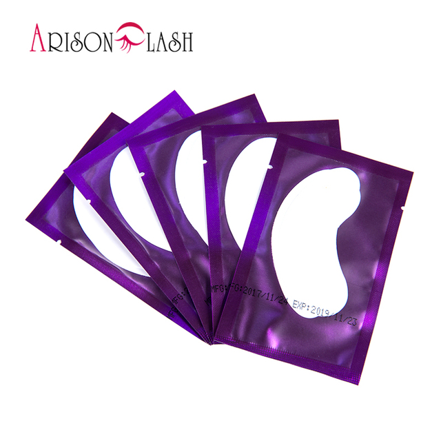 Hot 20/50/100 Eyelash Extension Paper Patches Grafted Eye Stickers 4 Color Eyelash Under Eye Pads Eye Paper Patches Tips Sticker 3
