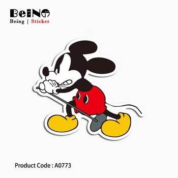 Mickey Mouse Cartoon Cute Sticker Anime Lovely Waterproof Suitcase Laptop Guitar Luggage Skateboard Toy Lovely A0773 Stickers 31 Стикер