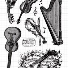 KSCRAFT музыкальный инструмент прозрачный чистый силикон штампы для DIY Скрапбукинг/карты/Детские Поделки изделия для декорации M16