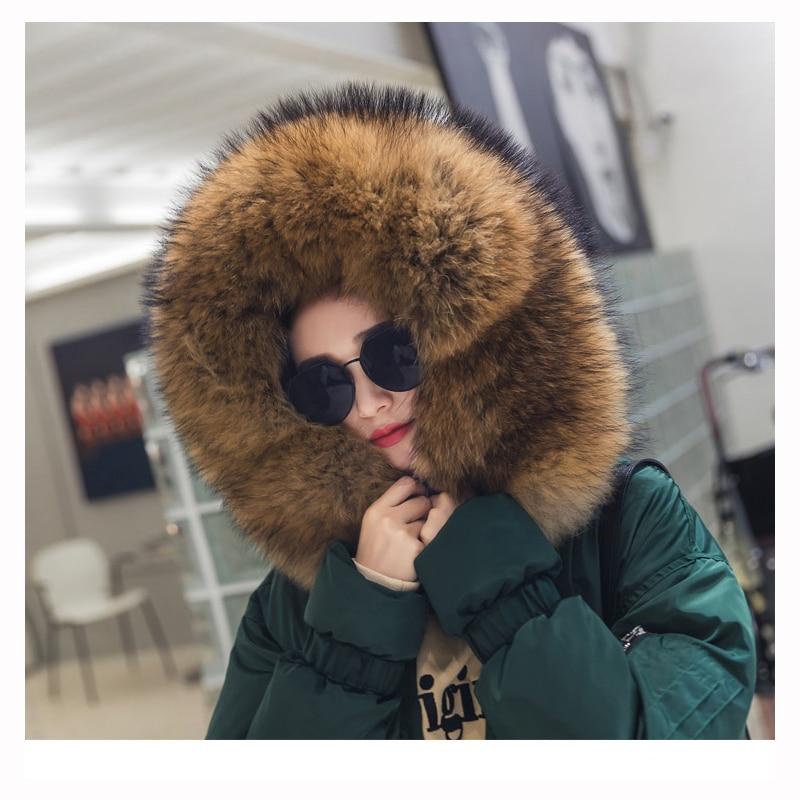 Épaissie Z186 Taille Section Nouveau Femmes Parka De Dark Hiver Coton 2018 Grand Fourrure Pain Col Coréen Green Longue Vêtements Réglable qw7TnaF
