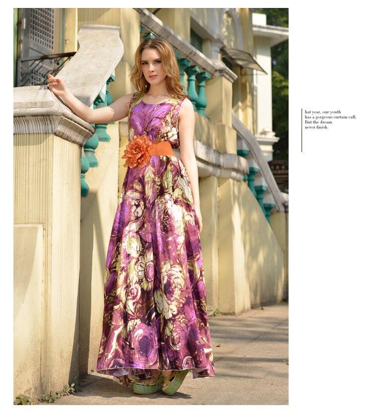 Summer long cotton dresses