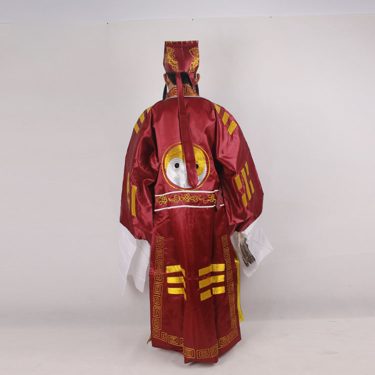 Chinese Operas Robe Hat Peking Opera costumes Three Kingdoms Periods Zhu Geliang Bagua Tai Chi Wudang Daoist Drama Outfit in Sets from Novelty Special Use