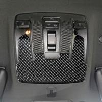 Carbon Fiber Car Roof Reading Light Panel Decoration Sticker Trim For Mercedes Benz CLA C117 GLA X156 A Class W176 2013 18
