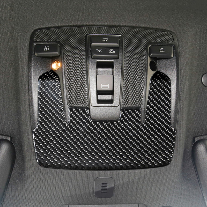Carbon Fiber Car Roof Reading Light Panel Decoration Cover Trim For Mercedes Benz CLA C117 GLA