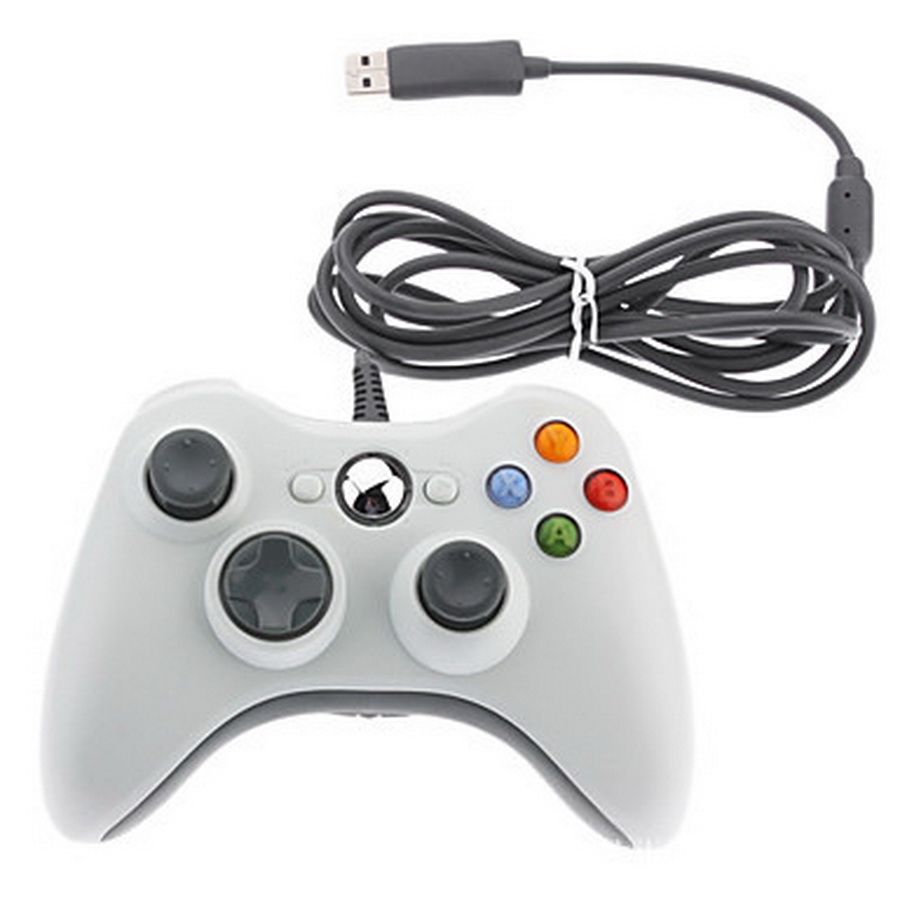 10pcs USB Wired Joypad Gamepad Black Game Controller For Xbox Slim 360 Joystick For Official Microsoft