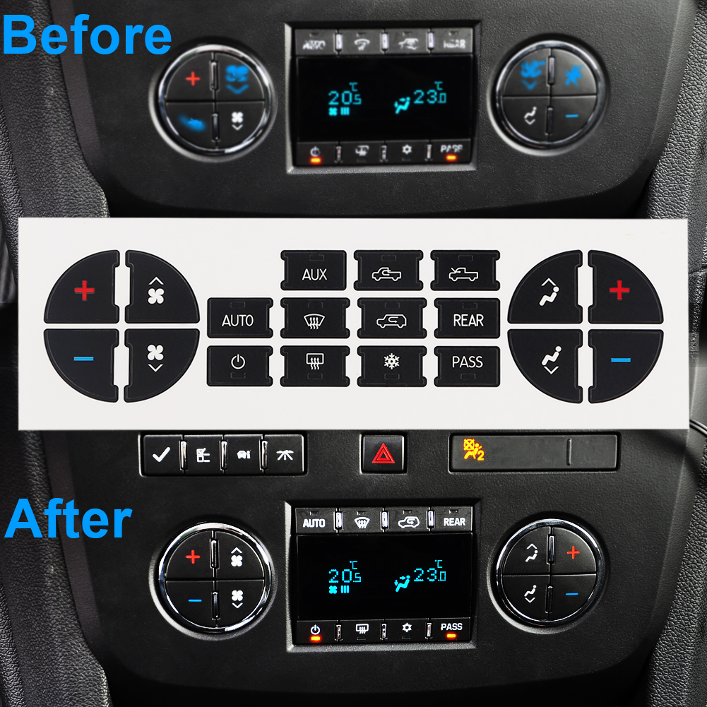 FISHBERG Decorative Car Button Sticker Decor Car Accessories Button Decals Auto For Buick Enclave