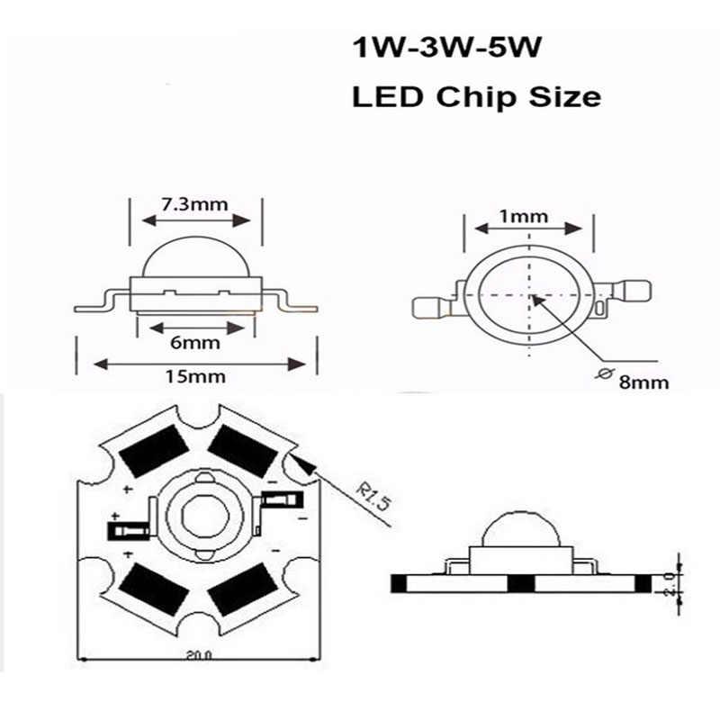 1 Вт 3 Вт 5 Вт полный спектр светодиодный свет чип 380-840nm, Лучший светодиодный чип для выращивания растений для выращивания домашних растений