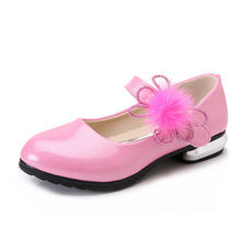 Spring Autumn Kids Fashion Princess Flat Shoes Girls Bow PU Leather Child Dance Shoes School Girl Shoes Big&Little