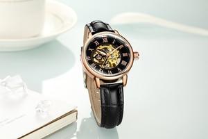 Image 5 - ORKINA montre de luxe pour femmes, horloge mécanique, avec bracelet blanc, boîtier en or, marque de luxe, collier en perles