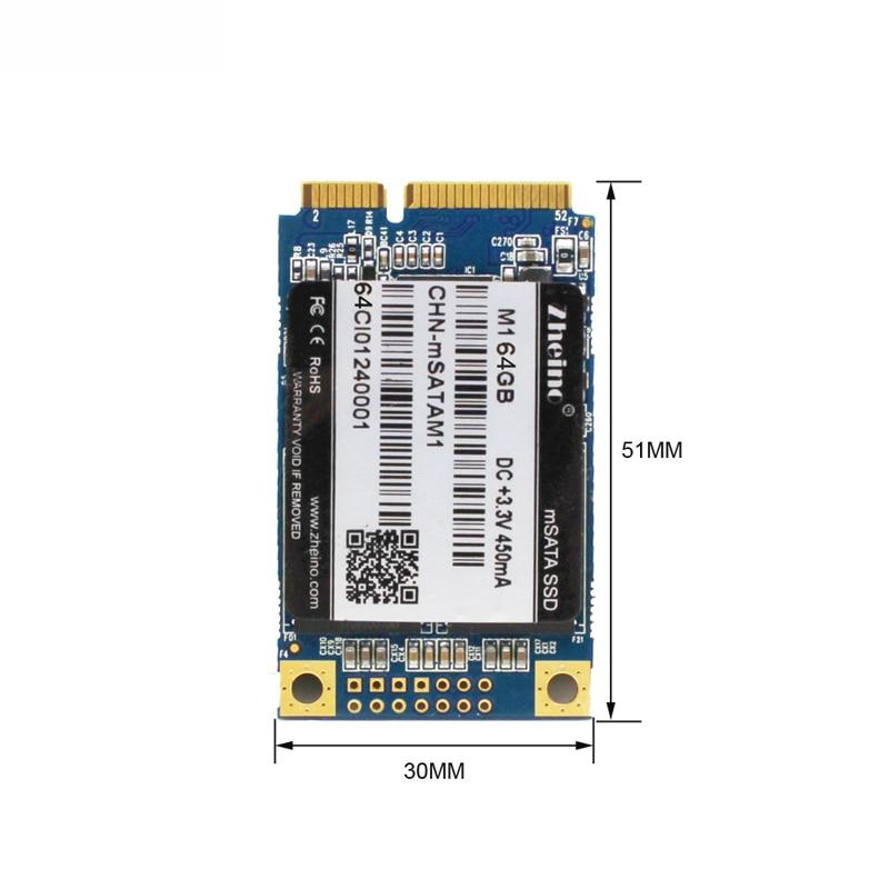 Zheino Горячие M1 mSATA 64 ГБ SSD SATA3 Internal Solid State Drive 2D MLC не TLC для таблицы портативных ПК тетрадь ...