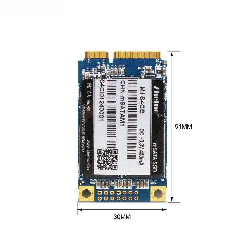 Zheino Chaude M1 mSATA 64 GB SSD SATA3 Interne Solid State Drive 2D MLC Pas TLC Pour Table PC Portable portable