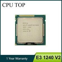 Processador intel, intel xeon E3-1240 v2 8m cache 3.40 ghz sr0p5 lga1155 e3 1240 v2 cpu
