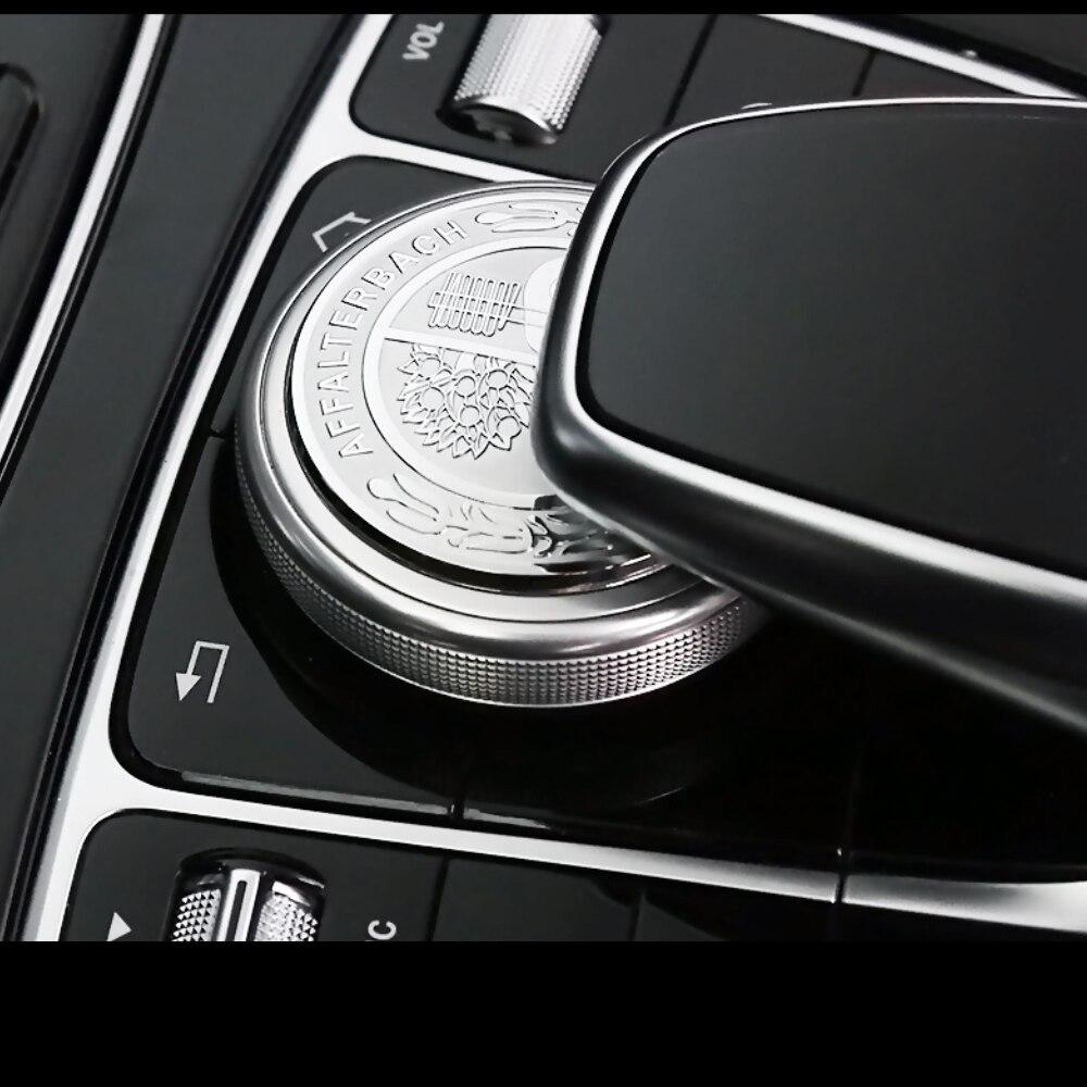 Árvore de maçã Logotipo Para Mercedes Benz AMG Insignia GLE GLS ML GL S V G Classe Acessórios Interiores Do Carro Multimídia botão Adesivo Cobrir