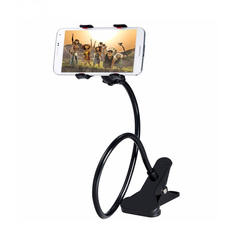 Universal Long Arm Cell Car Phone Holder Stand Lazy Bed Desktop Tablet Car Selfie Mount Bracket para iphone teléfonos celulares Android