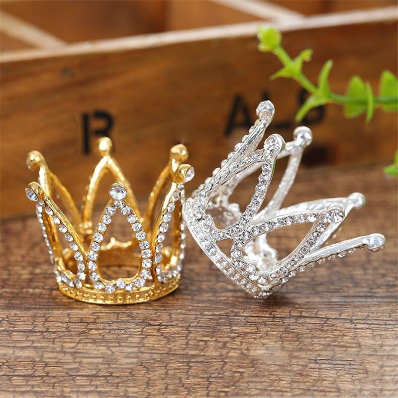 Kinder der königin könig wenig tiara crown bühne zeigen kopfschmuck geburtstag mini tiaras und kronen für kinder haar zubehör
