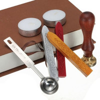 1 Set Classic Alphabet Initial Letter For You Sealing Wax Seal Stamp Luxury Gift Package Set