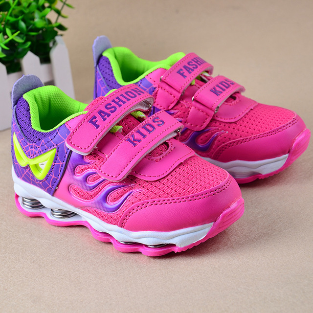 7b155ef3832 Spring Leather Kids Running Sports Shoes Tenis Infantil Menina Children  Sneakers Breathable Kids Shoes For Girls Boys TX225