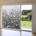 2016 New Frosted Home Barthroom Privacy Safety Sunscreen DIY Tulip Flower Glass Sticker Electrostatic Window Film 45x100cm