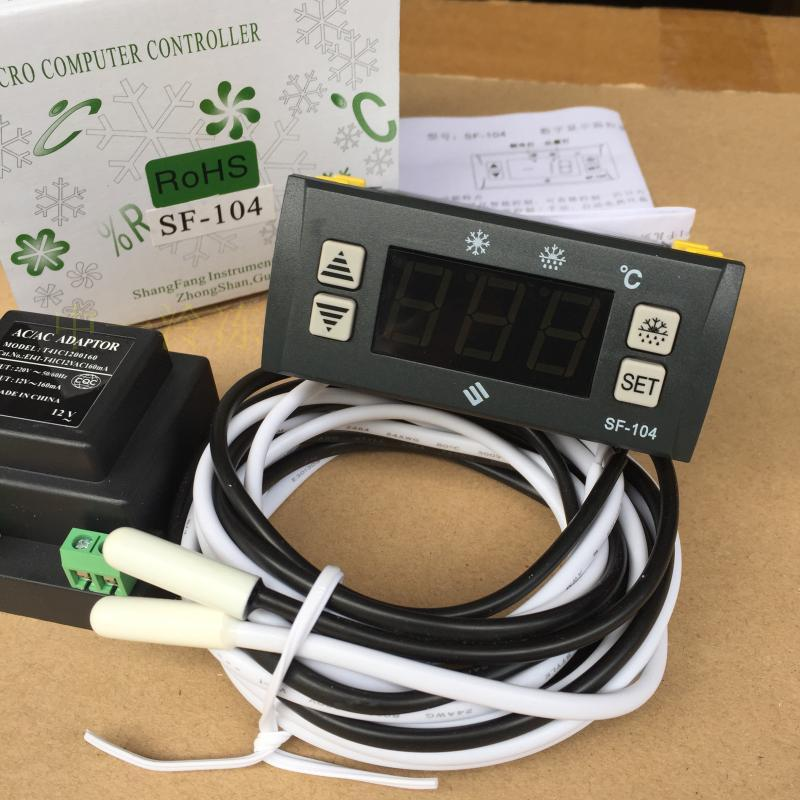 Zhongshan Shang Fang SF-104 Refrigerator freezer thermostat Electronic Digital display temperature controller sf 104b thermostat controller electronic temperature thermostat freezer temperature control instrument of frost temperature 30a