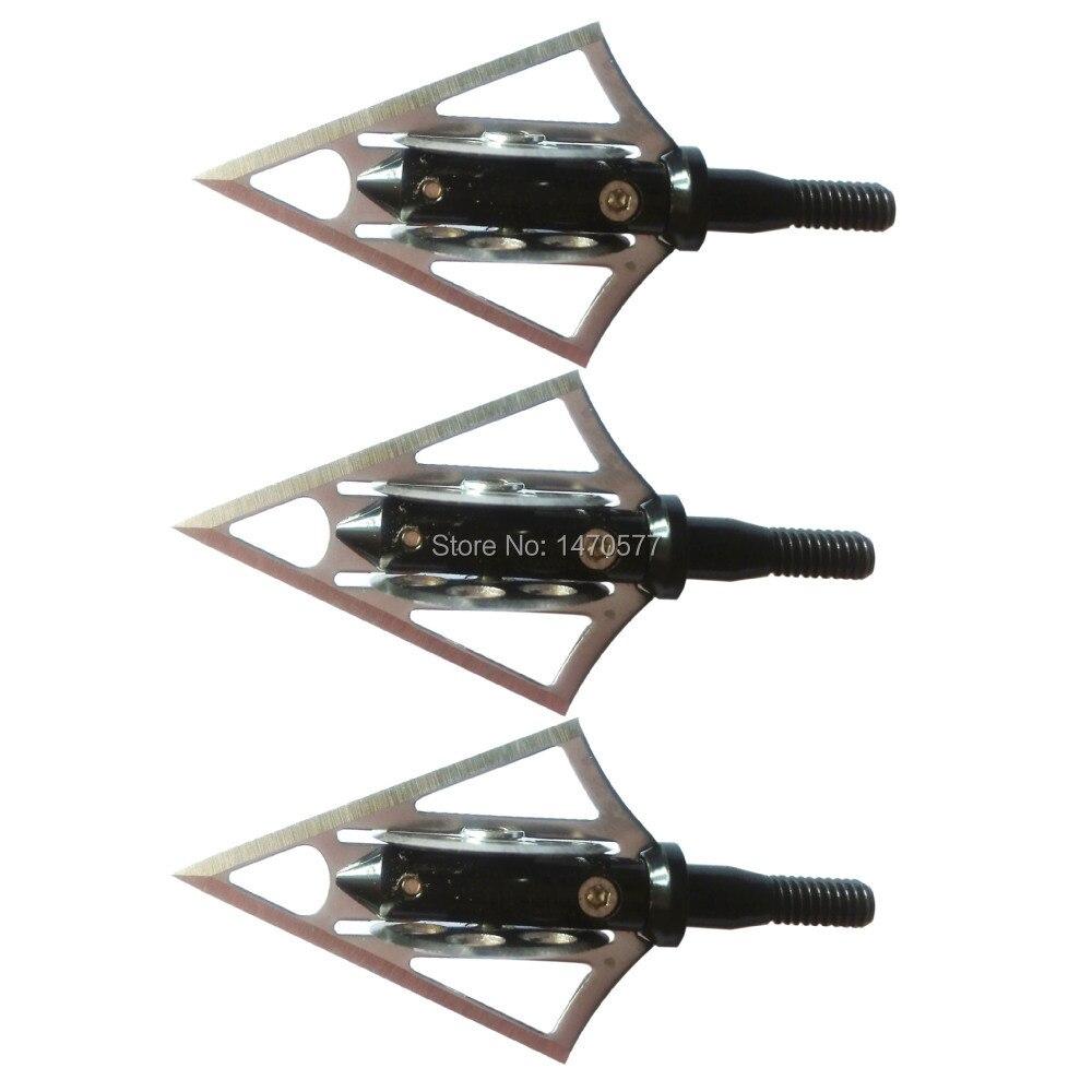 6 pçs arco e flecha caça broadheads
