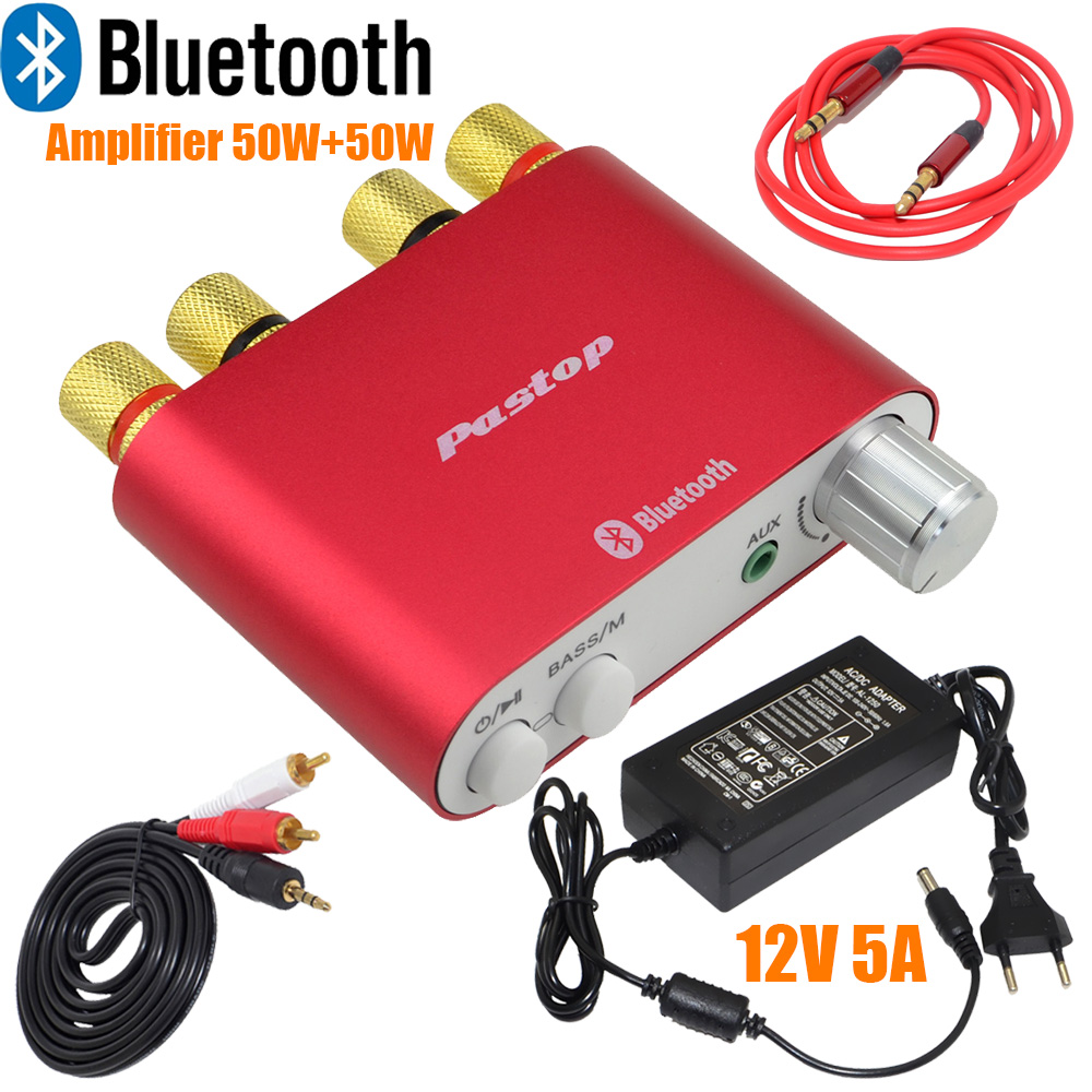 где купить  2017 Lastest HiFi 100W TPA3116 Mini Bluetooth 4.0 Digital Amplifier Amp Home Audio With Power Supply FREE SHPPING-10000409_R  по лучшей цене