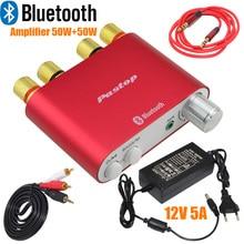 2017 de Lastest 100 W TPA3116 HiFi Mini Bluetooth 4.0 Amplificador Digital Amplificador de Audio Para El Hogar Con fuente de Alimentación LIBRE SHPPING-10000409_R