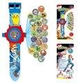 Новый 24 изображений Пикачу мультфильм Проекции Электронные часы Дети СВЕТОДИОДНЫЙ Цифровой Проекции Наручные Часы Для детей подарок для Ребенка игрушки