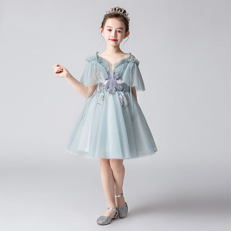 New Chidlren Girls Embroidery Strapless Tutu Princess Dress Kids Dresses For Girls Birthday Party Baby Girl Clothes Vestido F134New Chidlren Girls Embroidery Strapless Tutu Princess Dress Kids Dresses For Girls Birthday Party Baby Girl Clothes Vestido F134
