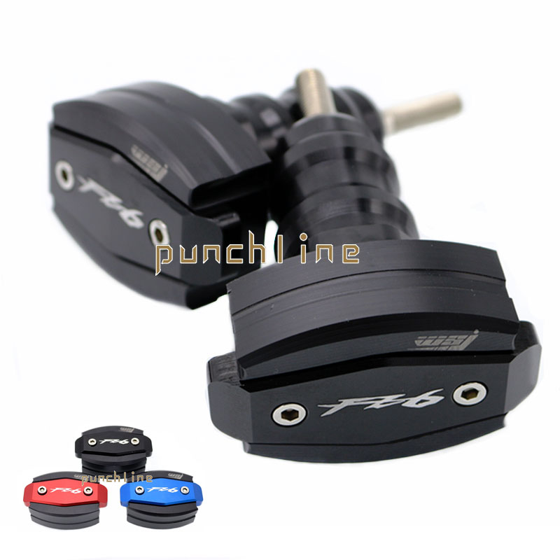 For YAMAHA FZ6 FAZER 2006-2010 2007 2008 2009 Motorcycle Accessories Body Frame Sliders Crash Protector Falling Protection Black