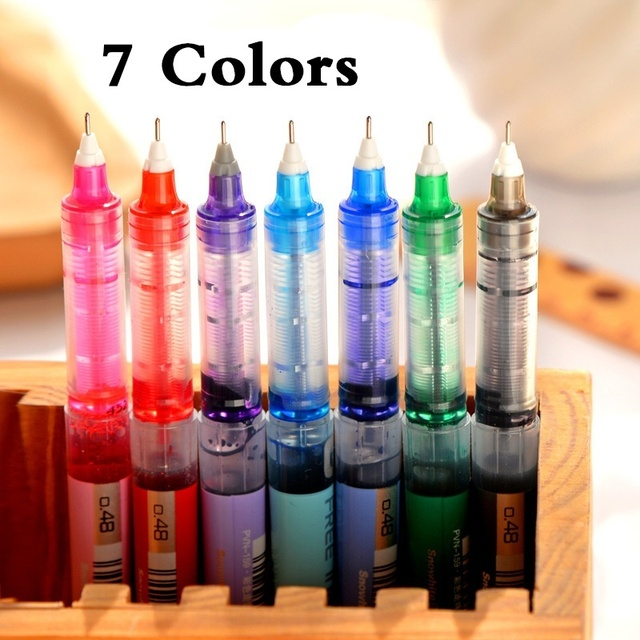 7 Colors High Quality Pilot V5 Hi-tecpoint 0.38/0.5 Needle Point Extra Fine Point Liquid Ink Roller Ball Pen