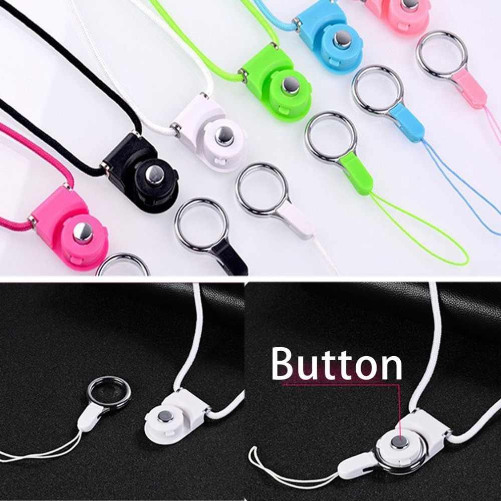 Универсальный ABS трикотажные мобильного телефона висит веревка держатель слинг съемный шейный ремешок Ремешок для Mp3 Mp4 брелок