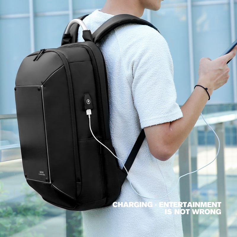 FRN Men Backpack Multifunction USB Charging 17 Inch Laptop Mochila Fashion Large Capacity Waterproof Travel Backpack Bag For Men