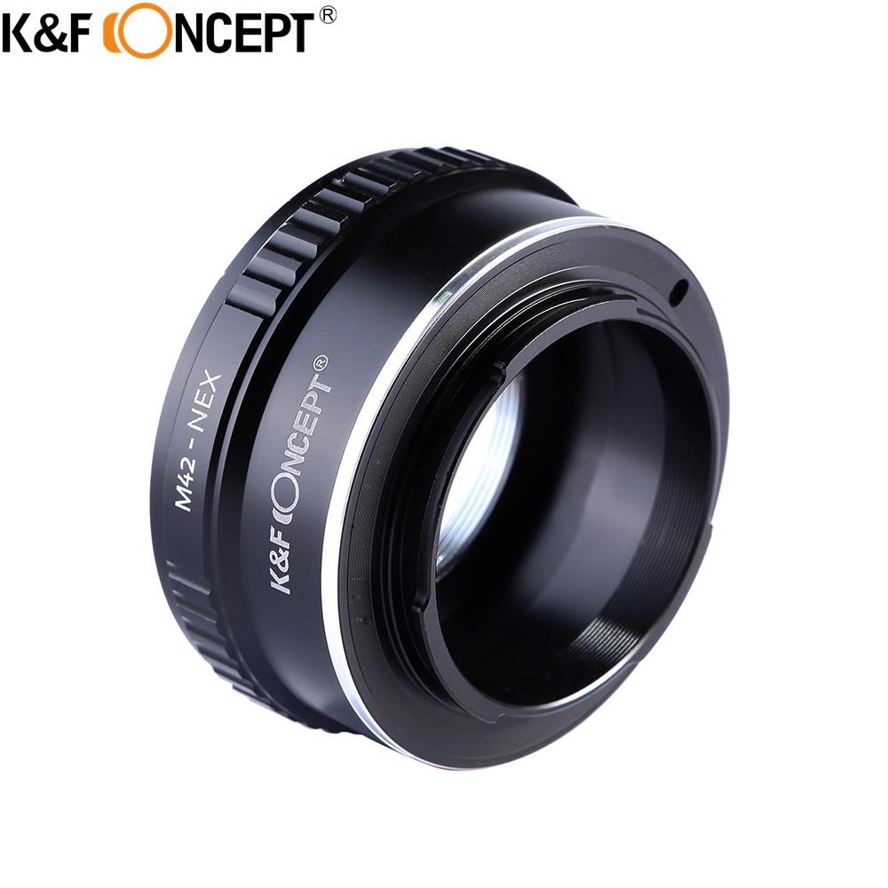 K&F CONCEPT Professional M42-NEX Lens Adapter Ring For M42 Screw Lens To SONY NEX E Mount NEX3 NEX5 NEX6 NEX7 DSLR SLR Camera