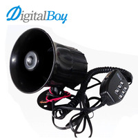Digitalboy 6 Sounds Tone Motorcycle Car Horn 12V 100W 125db Electronic Speaker Loud Siren Alarm Loudspeaker for Ambulance Truck