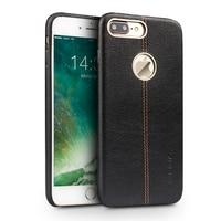 QIALINO Mody Wzór Smart Phone case dla iPhone 7 Case Handmade Prawdziwej Skóry pokrywa Oryginalny Sensing Układ wake up & snu