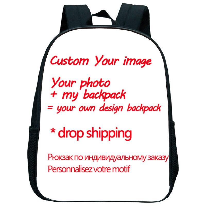 Drop Shipping Customized Your Image Custom Pattern School Bags Kindergarten School Backpack Beautiful Pattern School Rucksack