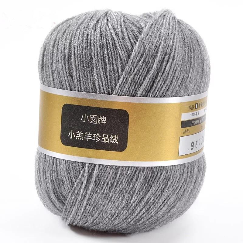 Amostra fio 100% merino para tricô 28 s/3 branco cinza preto cores eco friendly saudável 1 kg pequeno atacado - 3