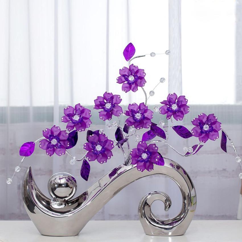 European Modern Fashion Ceramic Flower Vase Delicate Designed  Vases Home and  Wedding Decoration creative Arts and craftsEuropean Modern Fashion Ceramic Flower Vase Delicate Designed  Vases Home and  Wedding Decoration creative Arts and crafts