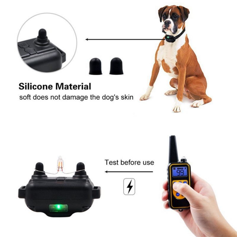 800yd Electric remote Dog Training Collar Waterproof Rechargeable LCD Display for All Size beep Shock Vibration mode 40%off-3
